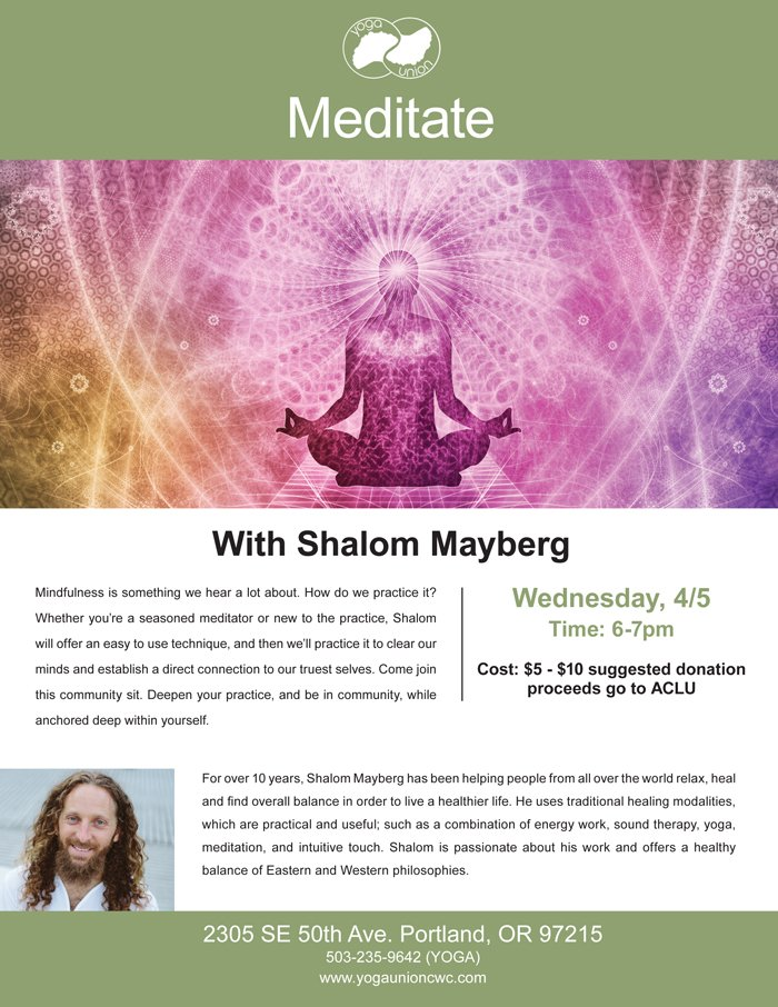 Meditate with Shalom Mayberg