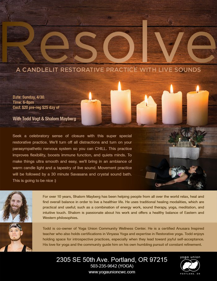 Candlelit Restorative Yoga with Crystal Bowl Sound Bath