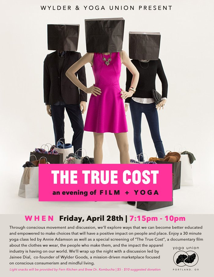 True Cost Yoga Movie Night